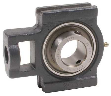 Take-Up Bearing, Bore 1-7/16 In, Wide Slot