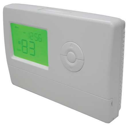 Thermostat,  7 Day Programmable,  Stages 1 Heat/1 Cool