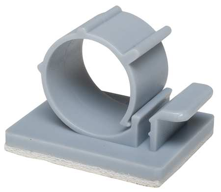 Cable Clip, L-Type, Gray, PK25