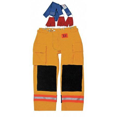 Turnout Pants,  Yellow,  Nomex(R),  L