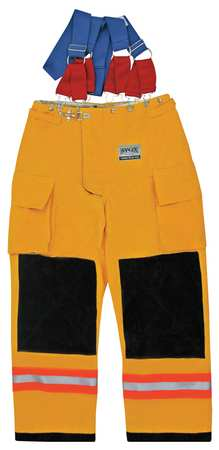 Turnout Pants,  Yellow,  Nomex(R),  2XL