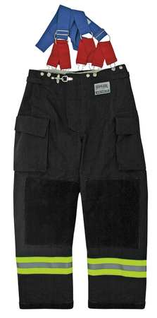 Turnout Pants,  Black,  Nomex(R),  XL
