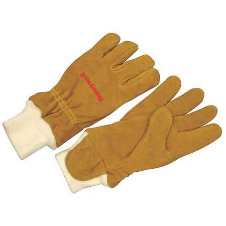 Firefighters Gloves, M, Cowhide Lthr, PR