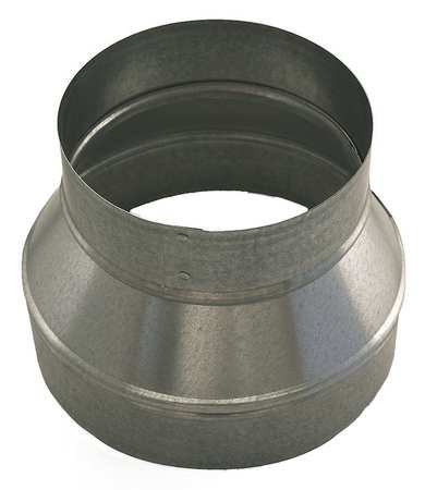 "6"" x 4"" Round Reducer Duct Fitting,  26 ga."