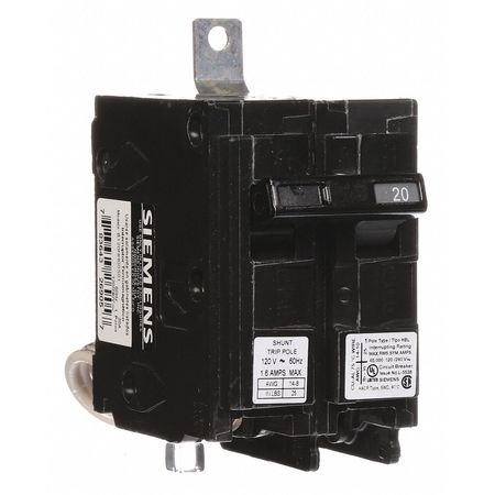 1P Shunt Trip Bolt On Circuit Breaker 20A 120/240VAC