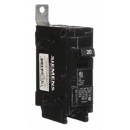 1P Standard Bolt On Circuit Breaker 20A 120/240VAC