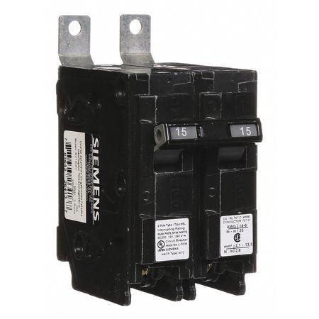 2P Standard Bolt On Circuit Breaker 15A 120/240VAC
