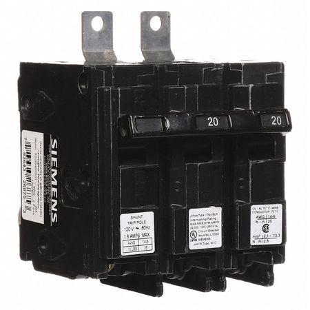 2P Shunt Trip Bolt On Circuit Breaker 20A 120/240VAC