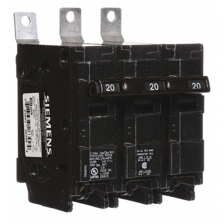 3P Standard Bolt On Circuit Breaker 20A 240VAC