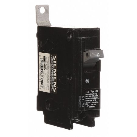 1P Standard Bolt On Circuit Breaker 40A 120/240VAC