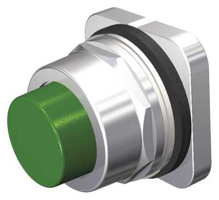 Push Button, 30mm, Extended Button, Green