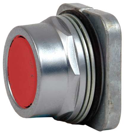 Push Button, 30mm, Flush Button, Red