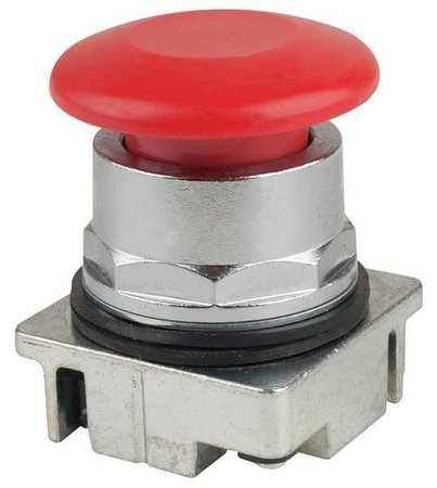 Push Button, 30mm, 1.75 In. Mushroom, Red