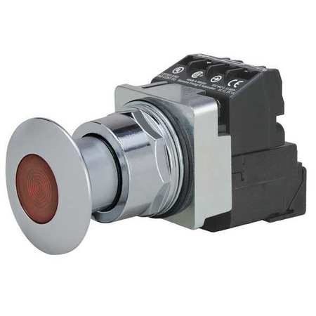 Illuminated Push Button, 30mm, 1NO/1NC, Red