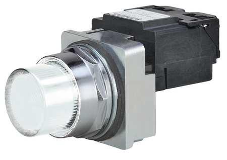 Pilot Light Complete, LED, 480V, 30mm, WH