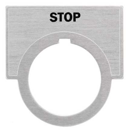 Legend Plate, Stop, Brushed Aluminum