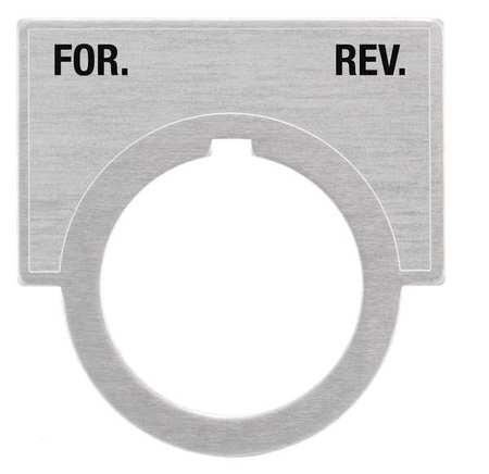 Legend Plate, For-Rev, Brushed Aluminum