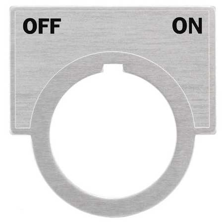 Legend Plate, Off-On, Brushed Aluminum