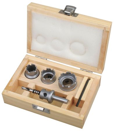 Hole Cutter Kit, Carbide, 6 Pc