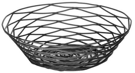 Artisian Basket,  Round, Black Metal, PK6