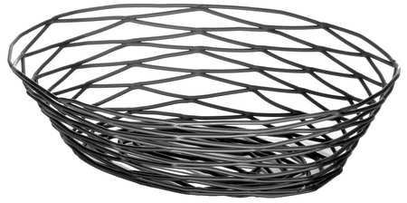 Artisian Basket,  Oval,  Black Metal, PK6