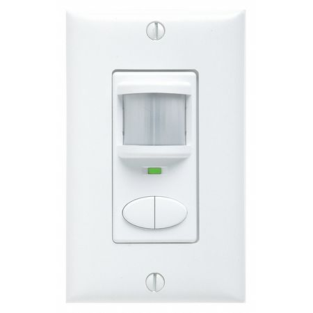 Occupancy Sensor, PIR/Mic, 2025sq ft, White