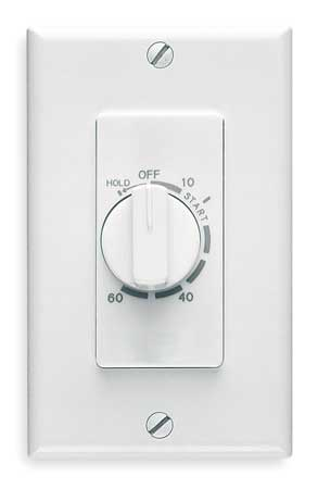 60 Minute Wall Timer, White,  SPST