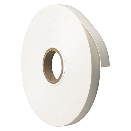 Double Sided Tape, B-156 Foam, 1 in, White
