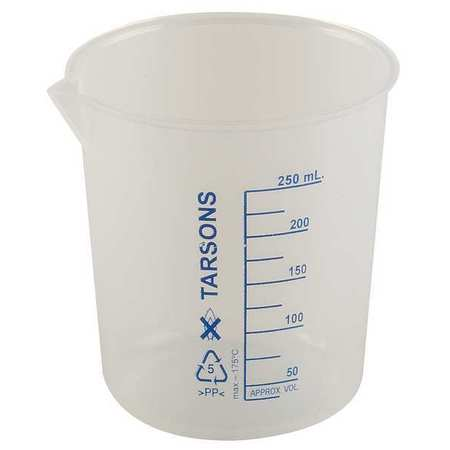 Beaker, 250mL, Polypropylene, PK6