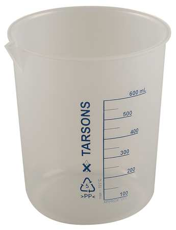 Beaker, 600mL, Polypropylene, PK4