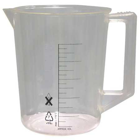 Beaker, Handle, 2000mL, 96 Oz, Polyethylene