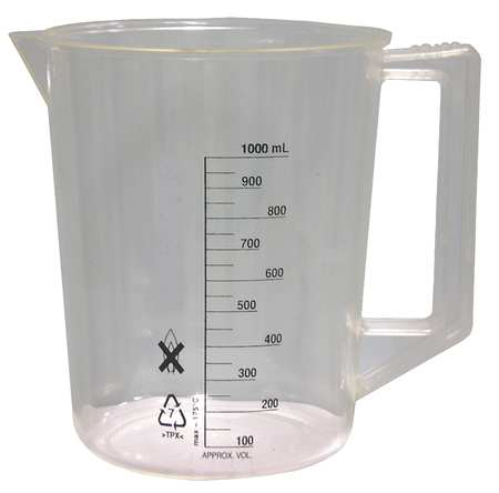 Beaker, Handle, 1000mL, Polymethylpentene