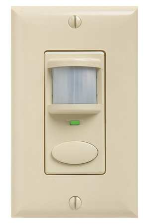 Vacancy Sensor, PIR/Micro, 2025sq ft, Ivory