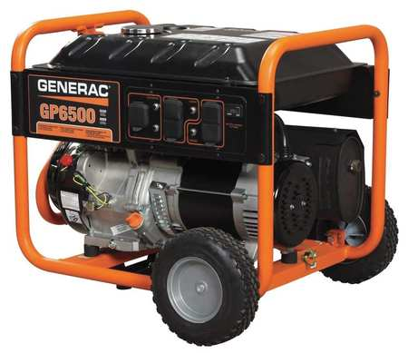 6500W Gas Portable Generator 120/240VAC Recoil
