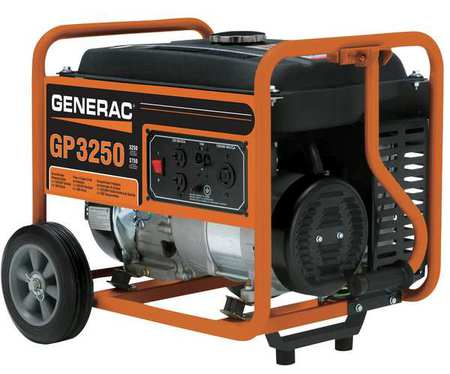 3250W Gas Portable Generator 120/240VAC Recoil