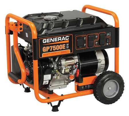7500W Gas Portable Generator 120/240VAC Electric/Recoil