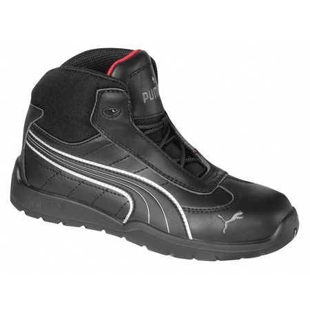Athletic Work Boots, Stl, Mn, 12, Blk, PR
