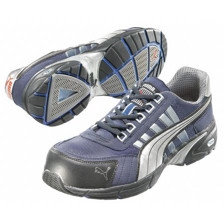 Athletic Work Shoes, Comp, Mn, 7, Blue, PR