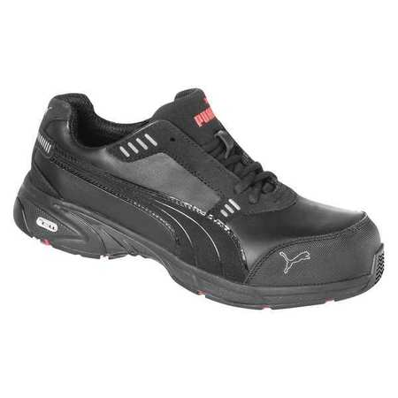 Athletic Work Shoes, Comp, Mn, 9, Blk, PR