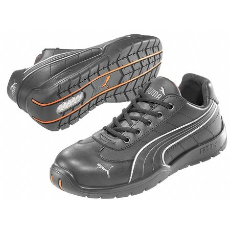 Athletic Work Shoes, Stl, Mn, 6, Blk, PR
