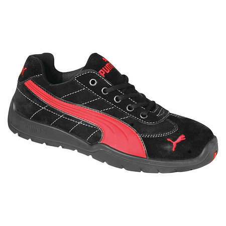 Athletic Work Shoes, Stl, Mn, 8, Blk, PR