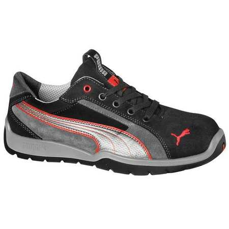 Athletic Work Shoes, Stl, Mn, 5, Gry, PR