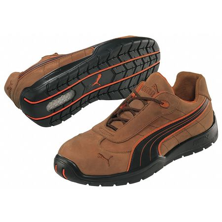 Athletic Work Shoes, Stl, Mn, 11, Brn, PR