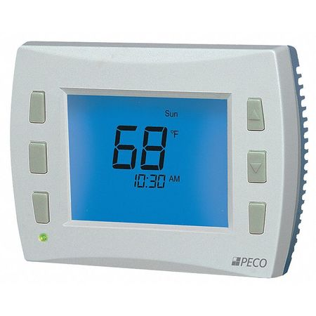 Thermostat,  7 Day Programmable,  Stages 3 Heat/2 Cool