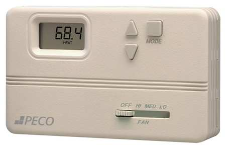 Fan Coil Thermostat, Electronic, Digital