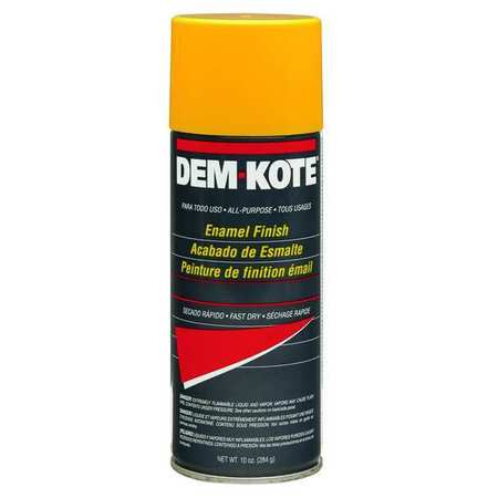 Spray Paint, Safety Yellow, 10 oz.
