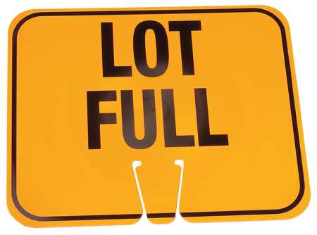 Traffic Cone Sign, Org/Blk, Lot Full