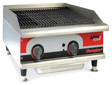 "24"" Gas Radiant Charbroiler,  2 Burners"