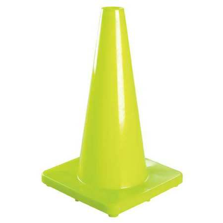 Traffic Cone, 28 In.Fluorescent Lime