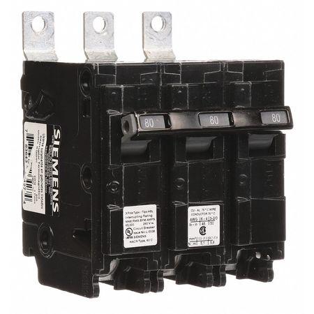 3P Standard Bolt On Circuit Breaker 80A 240VAC